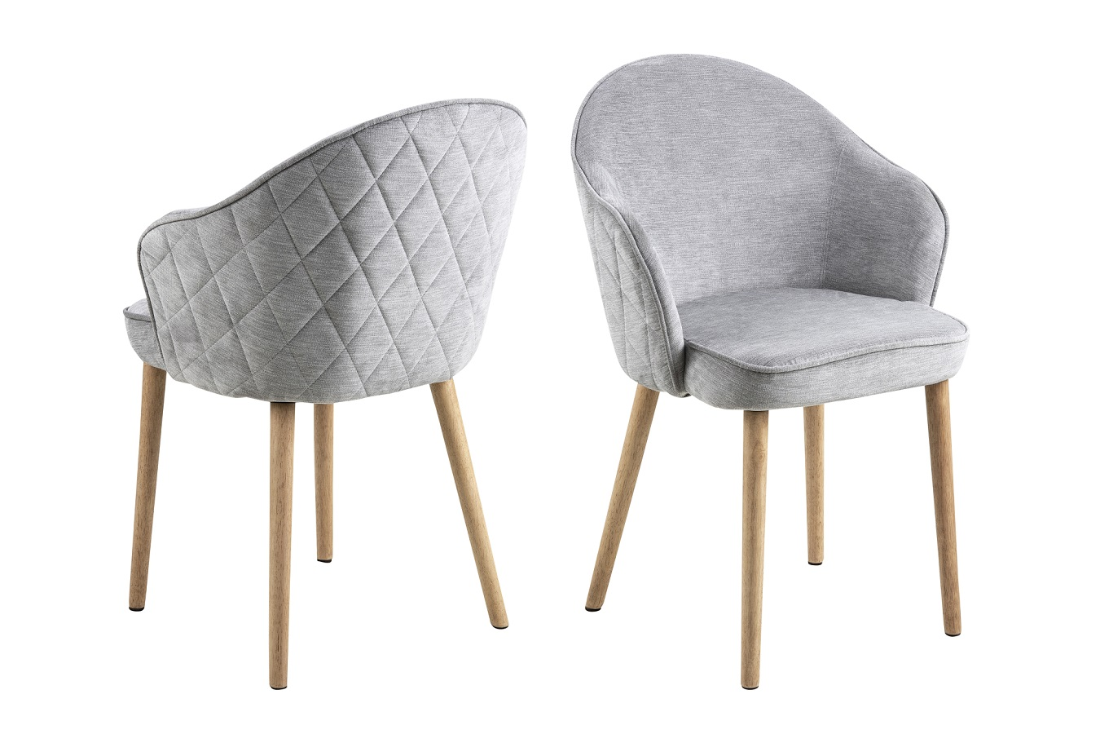 Designová jídelní židle Alfie šedá / přírodní