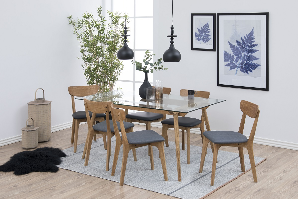 Designová jídelní židle Aloysius tmavě šedá