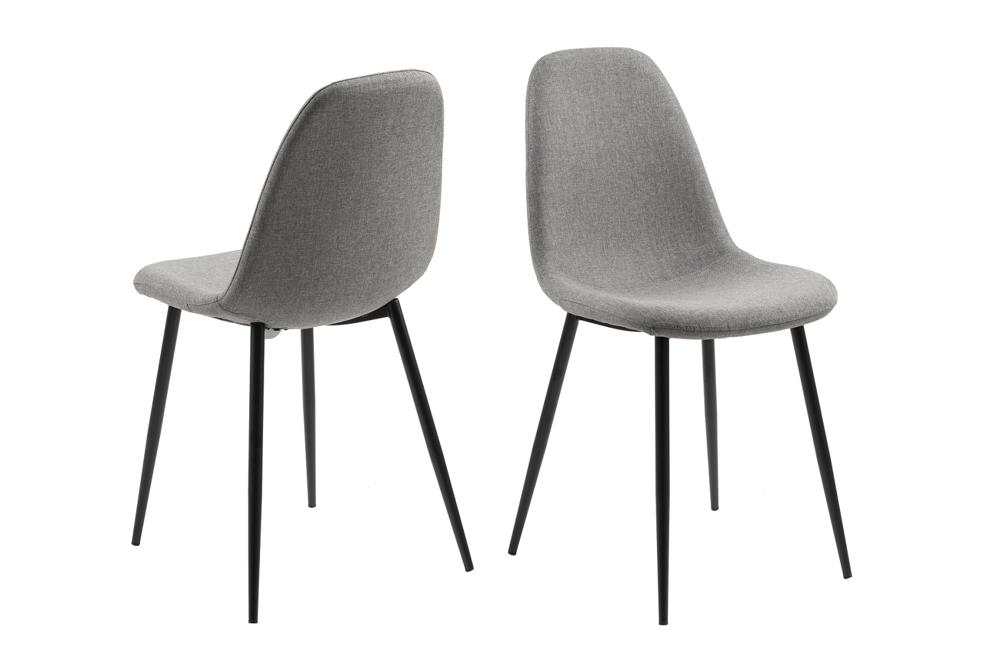 Designová jídelní židle Alphonsus II světlešedá / černá