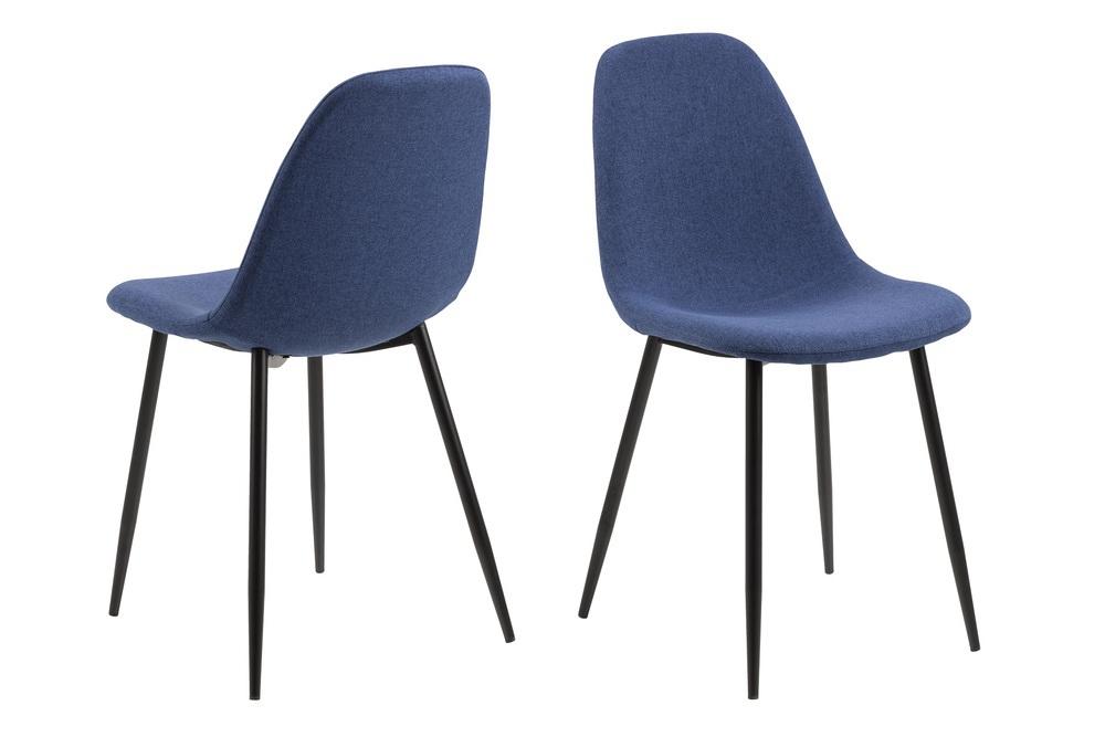 Designová jídelní židle Alphonsus modrá