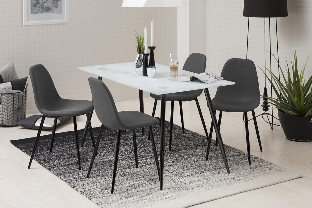 Designová jídelní židle Alphonsus šedá / černá