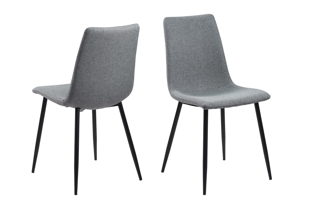 Designová jídelní židle Alric světlešedá