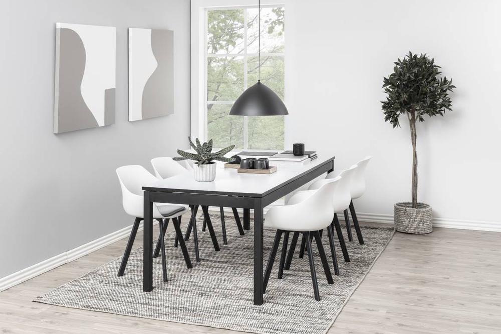 Designová jídelní židle Nerys bílá a černá