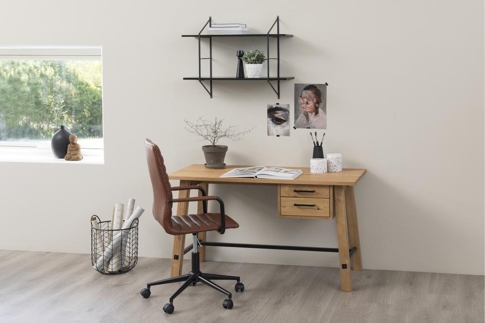 Designová kancelářská židle Narina brandy