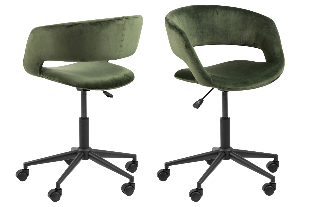 Designová kancelářská židle Natania lesní zelená