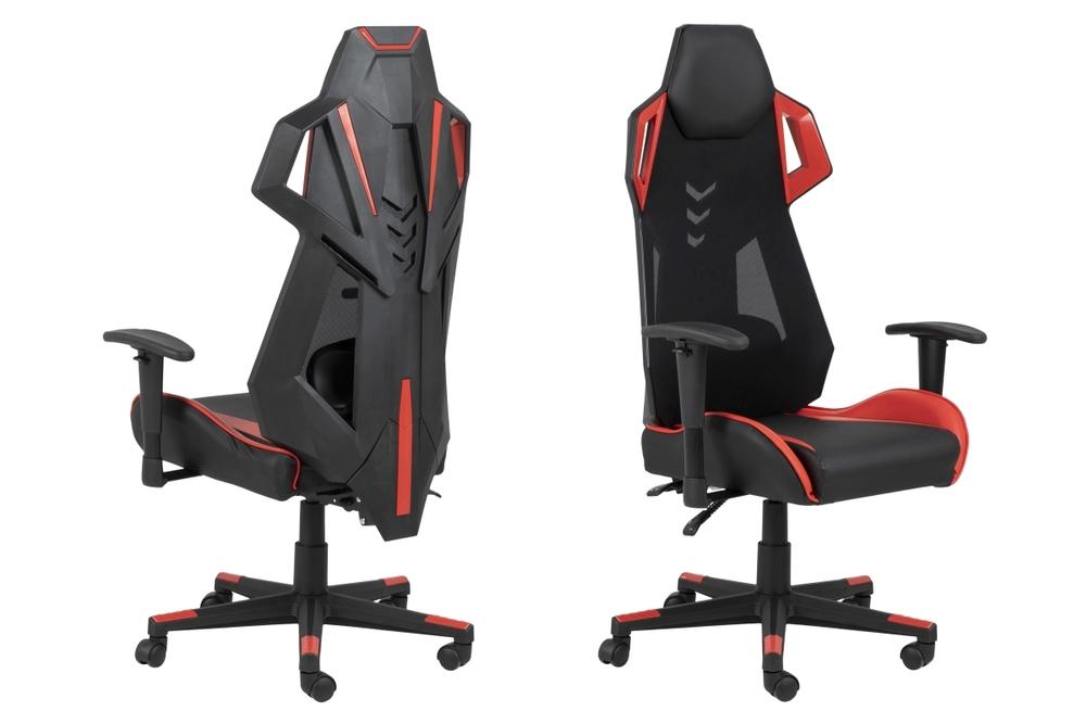 Designová kancelářská židle Nathalia černá-červená