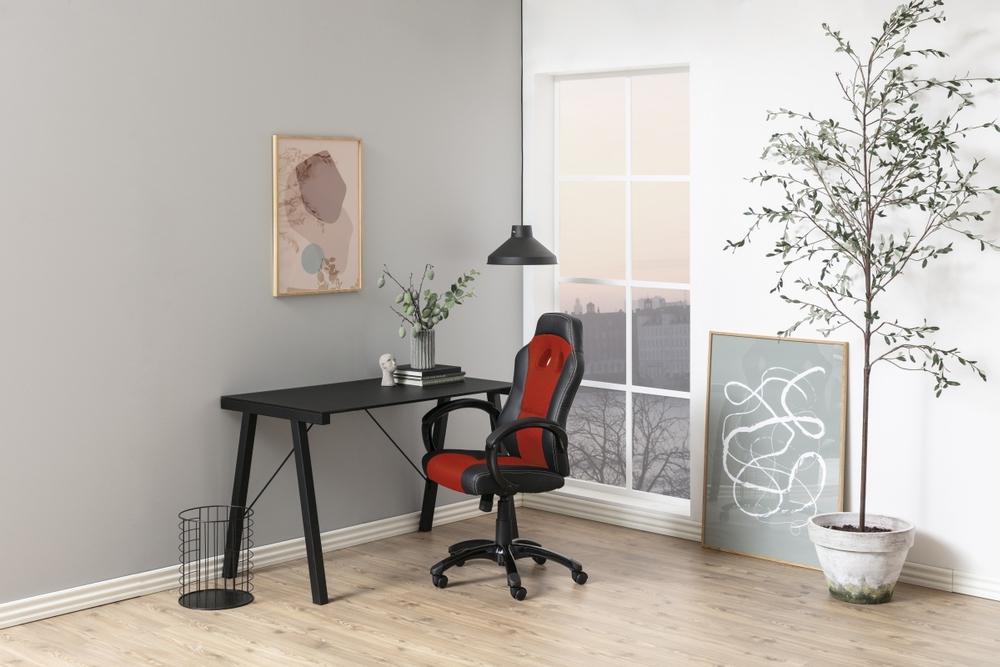 Designová kancelářská židle Navy červená-černá