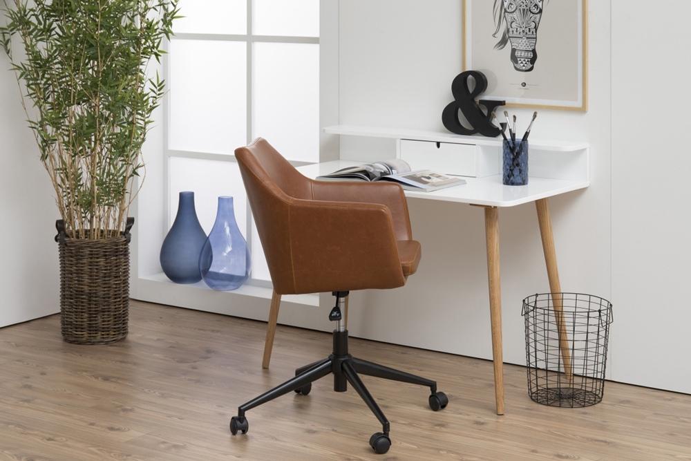 Designová kancelářská židle Norris brandy five