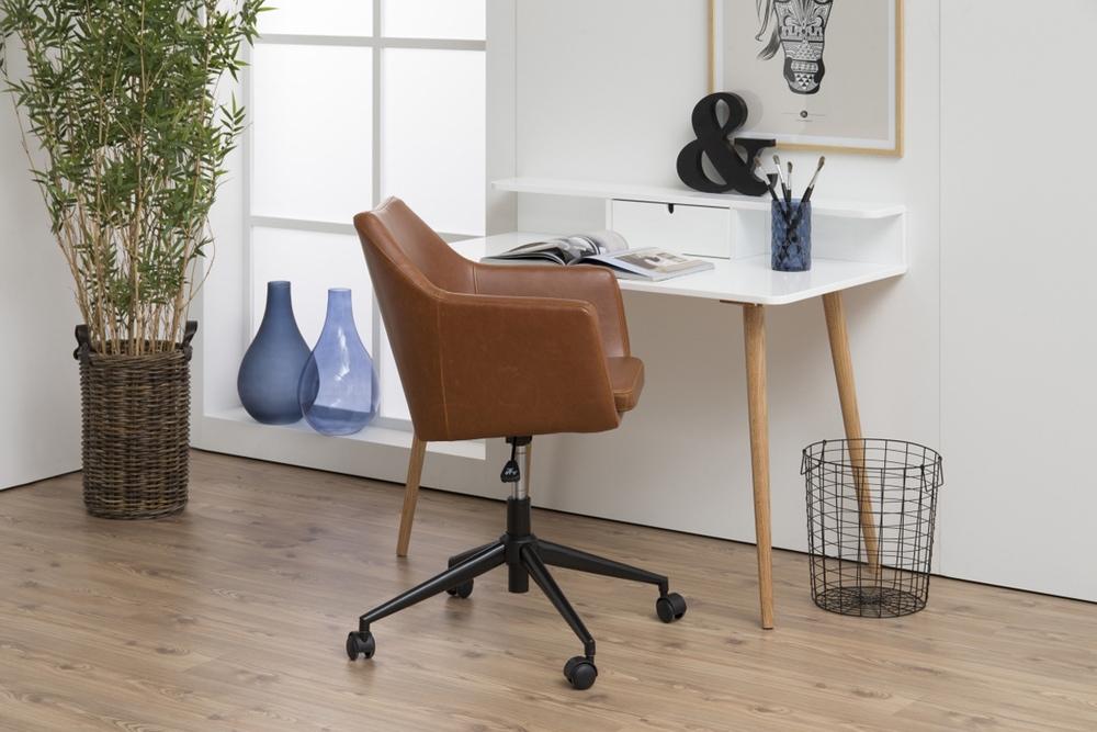 Designová kancelářská židle Norris brandy