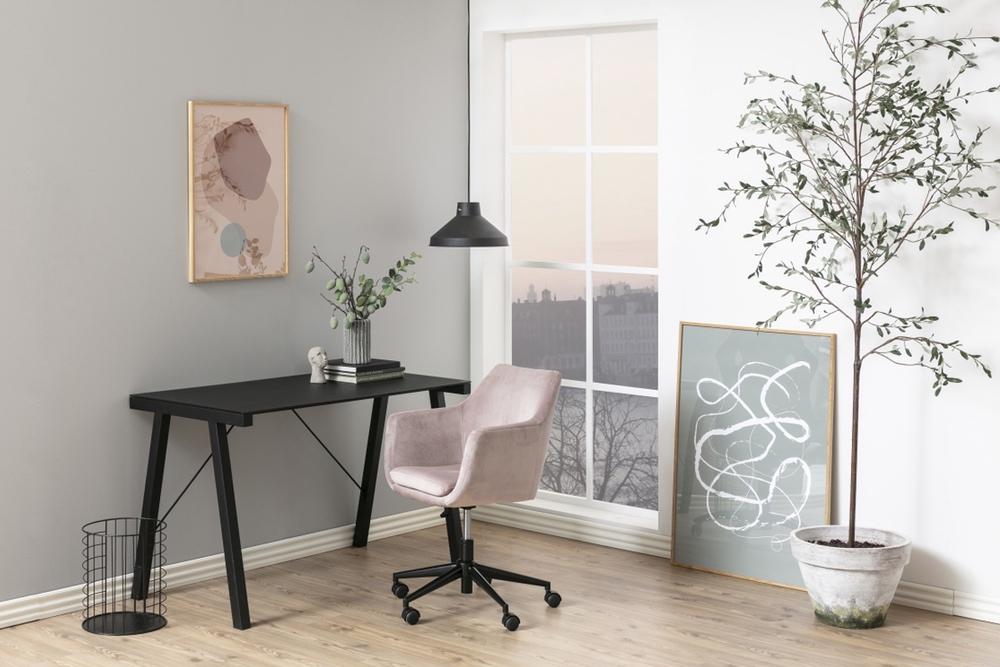 Dizajnová kancelárska stolička Norris svetlo ružová
