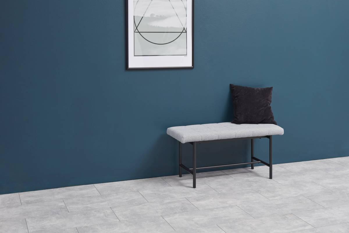 Designová lavice Nerida světle šedá