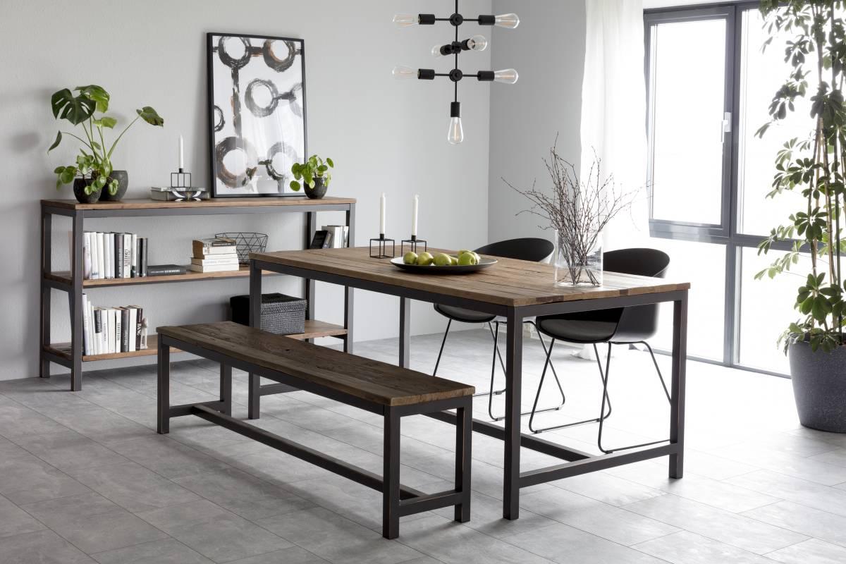 Designová lavice Nikeesha přírodní a černá