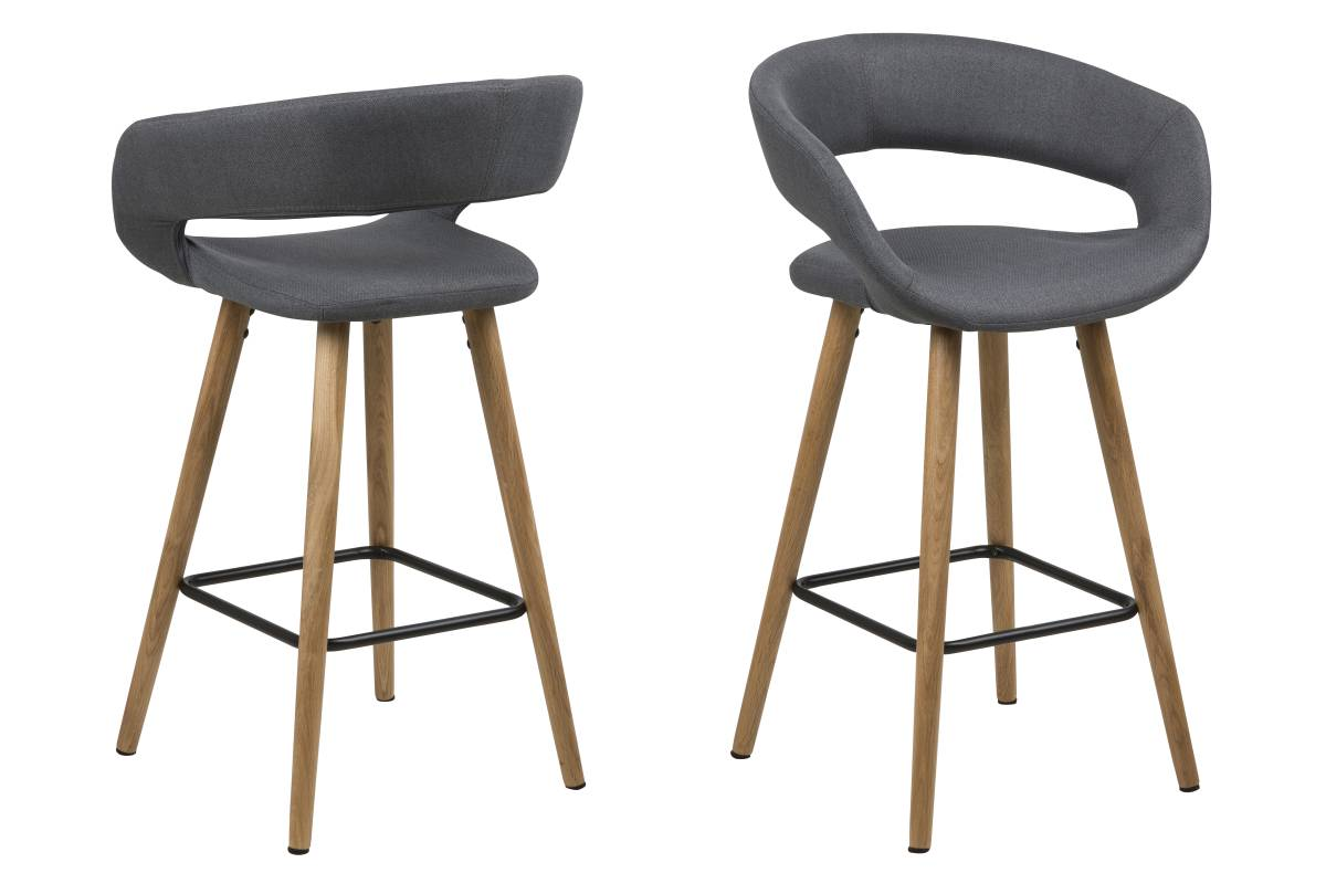 Dizajnová pultová stolička Natania, tmavo šedá