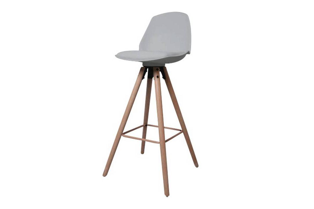 Designová pultová stolička Nerea šedá