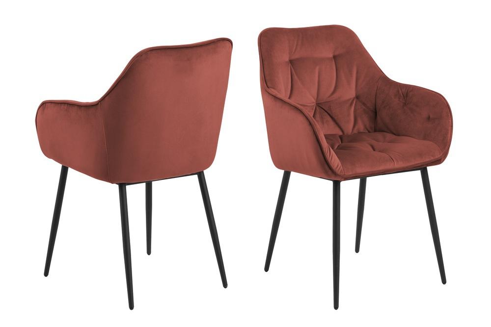 Designové židle Alarik korálová