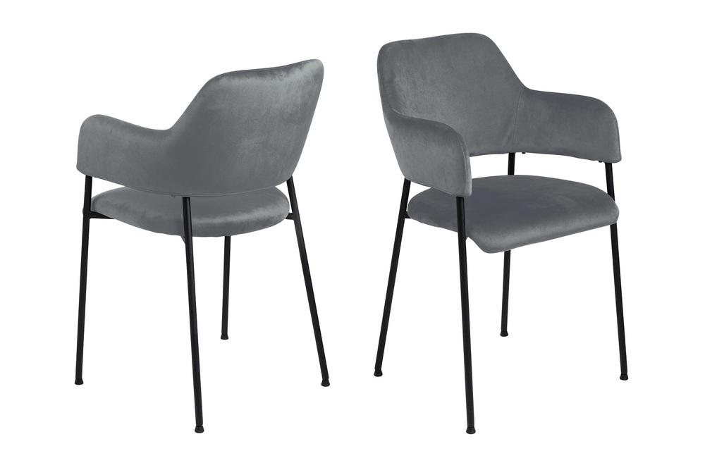 Dizajnová stolička Albus, tmavosivá