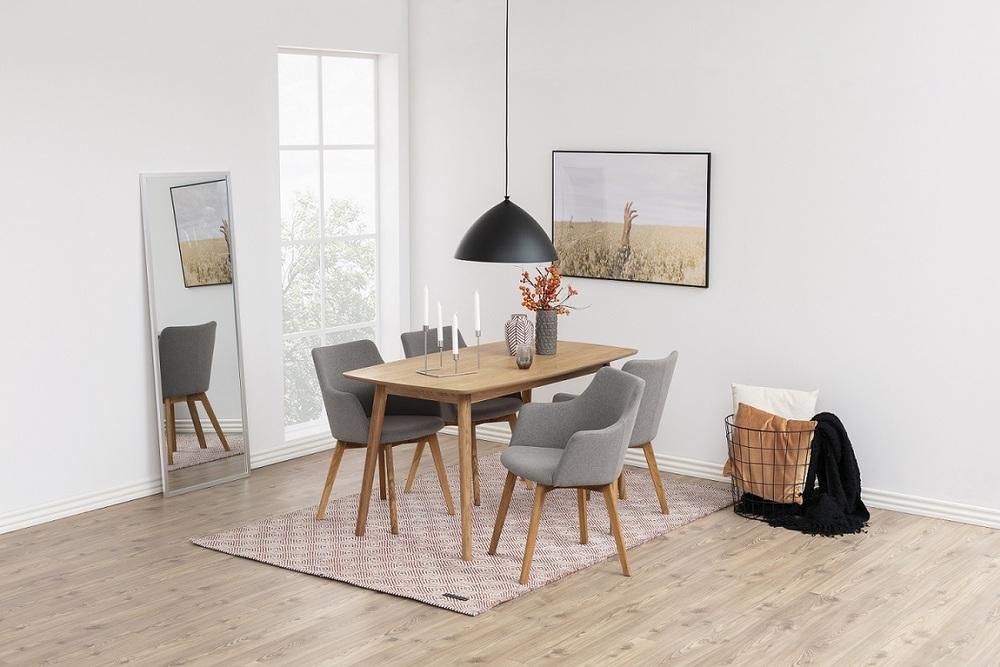 Designové židle Aleksander světlešedá