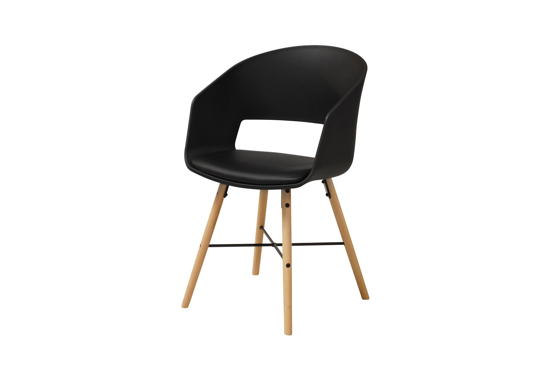 Dizajnová stolička Alexei, čierna