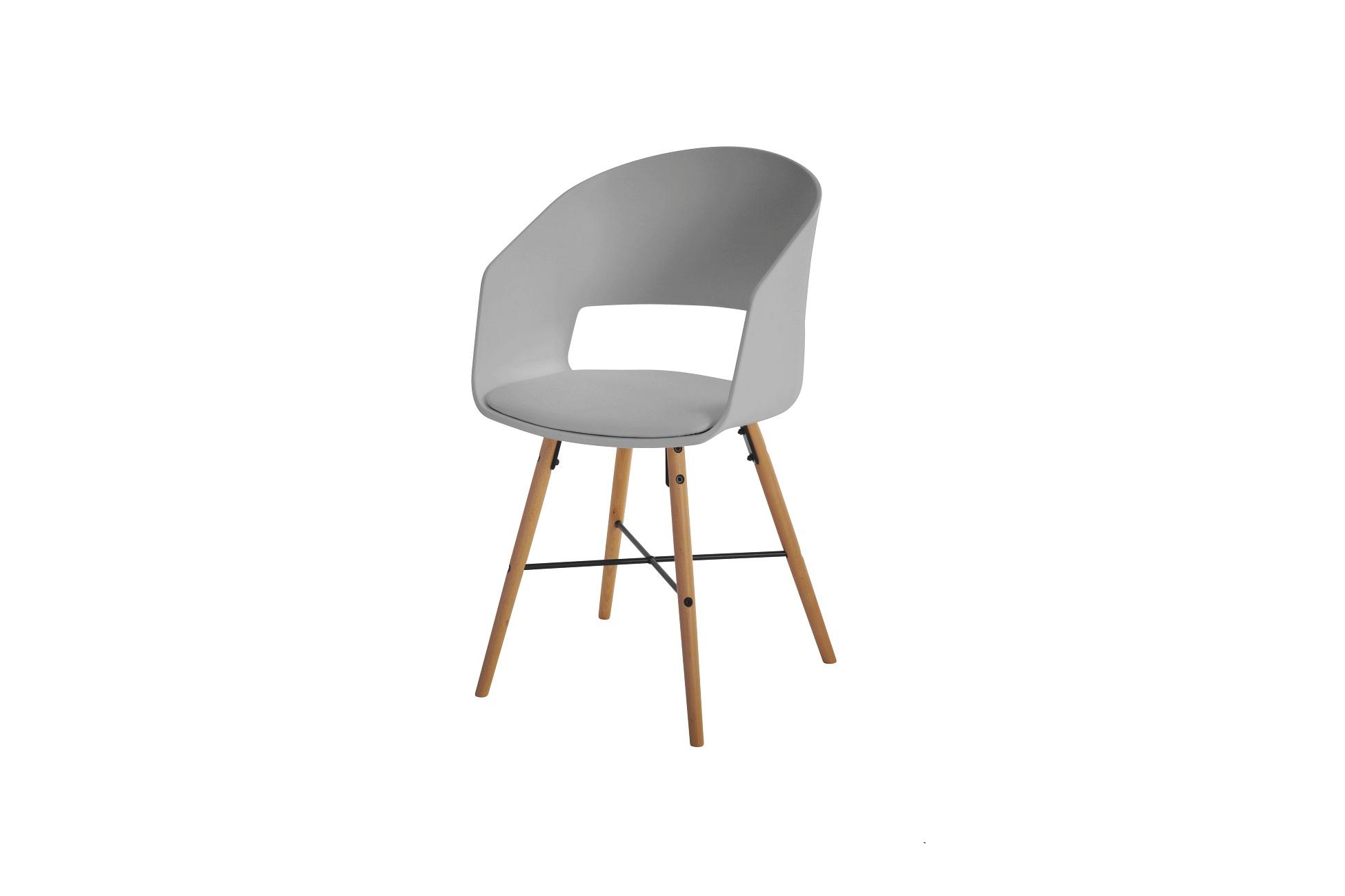 Dizajnová stolička Alexei, sivá