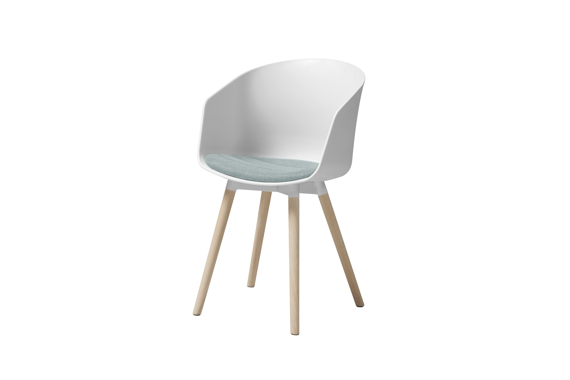 Designová židle Almanzo bílá / mátová