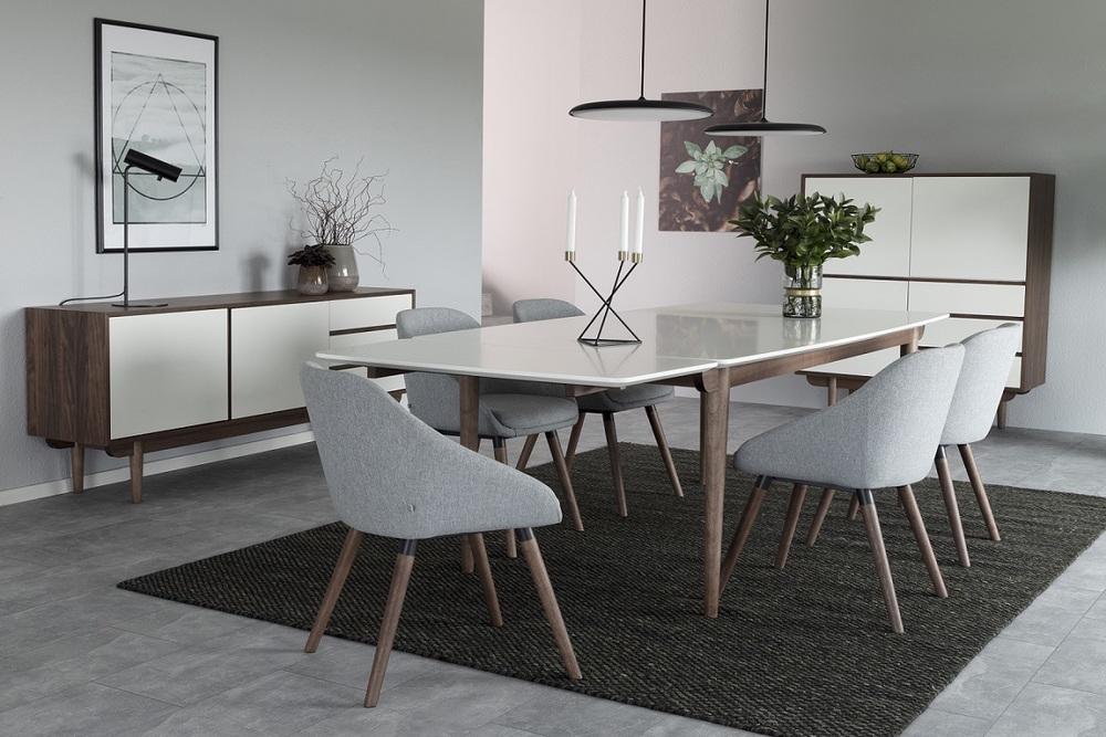 Designová židle Almeisan světlešedá