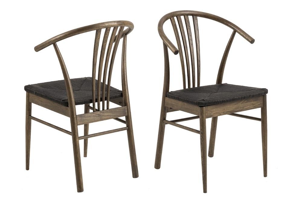 Designová stolička Altair tmavý dub