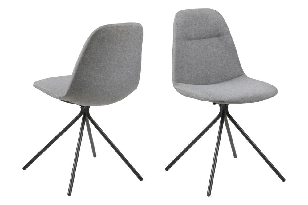 Dizajnová stolička Narva, svetlo šedá