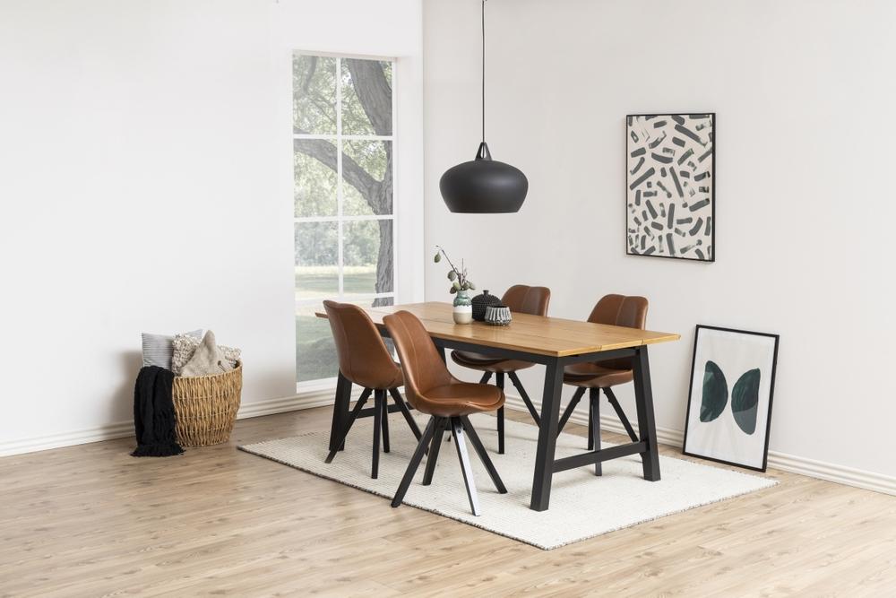 Dizajnová stolička Nascha, brandy