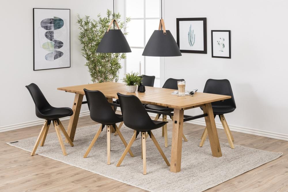 Dizajnová stolička Nascha, čierna-prírodná