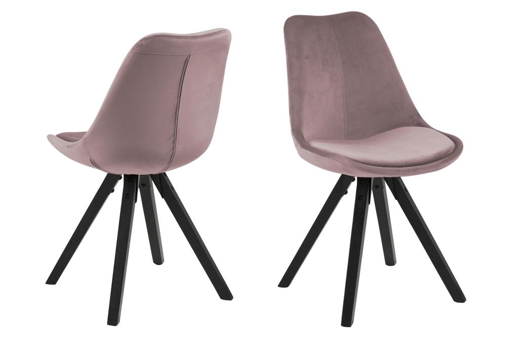 Designové židle Nascha světle růžová-černá
