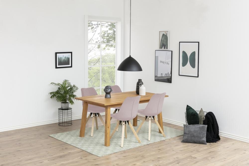 Dizajnová stolička Nascha, svetlo ružová