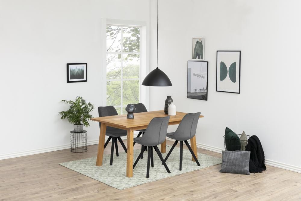 Dizajnová stolička Nascha, tmavo šedá čierna