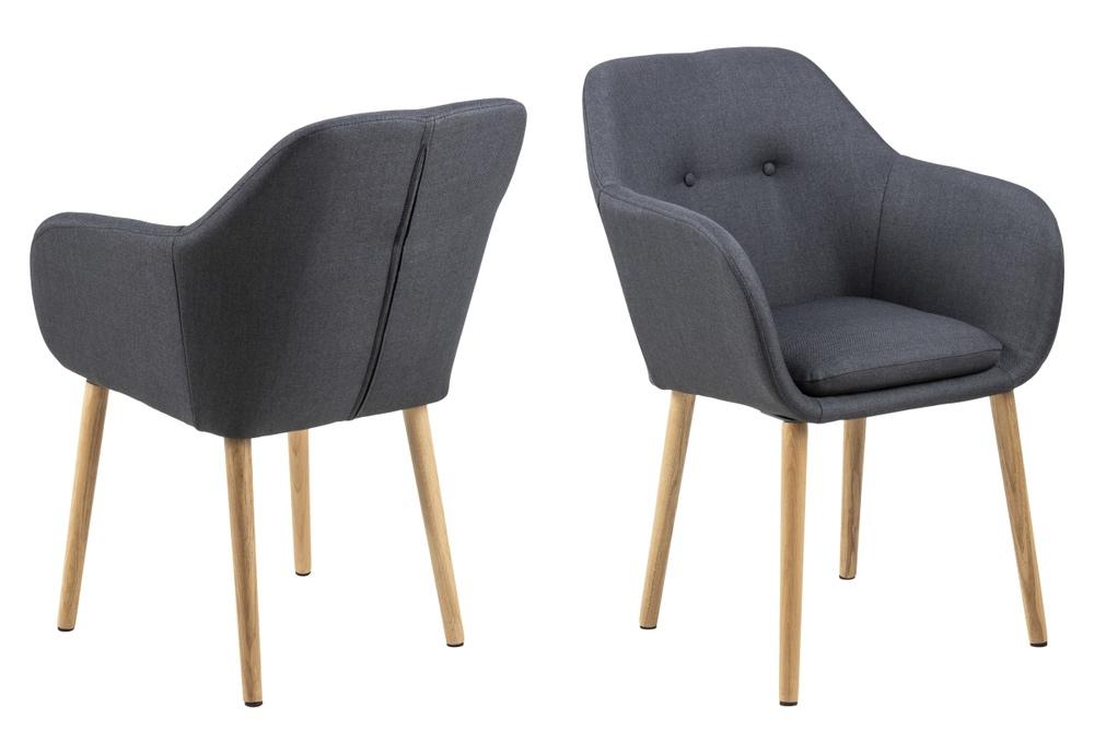 Dizajnová stolička Nashira, antracitová