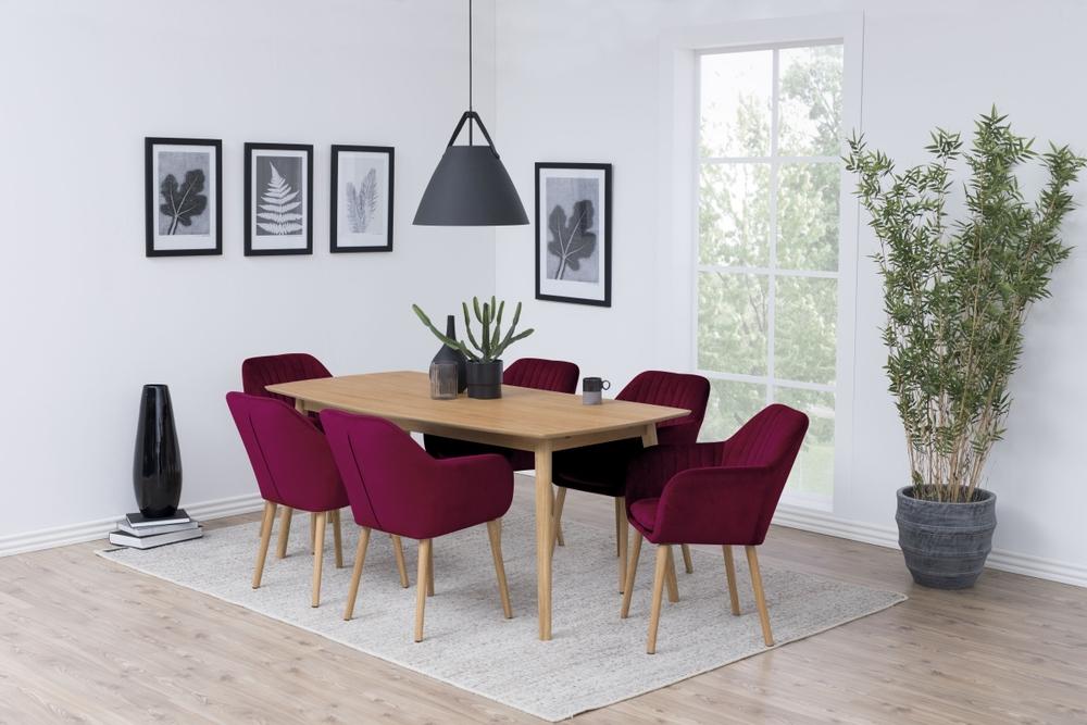 Dizajnová stolička Nashira, bordová VIC