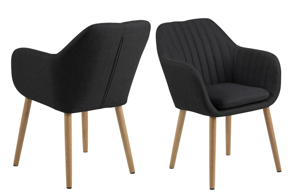 Designové židle Nashira tmavá antracitová