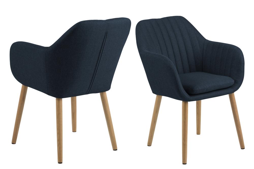 Dizajnová stolička Nashira, tmavo modrá 2