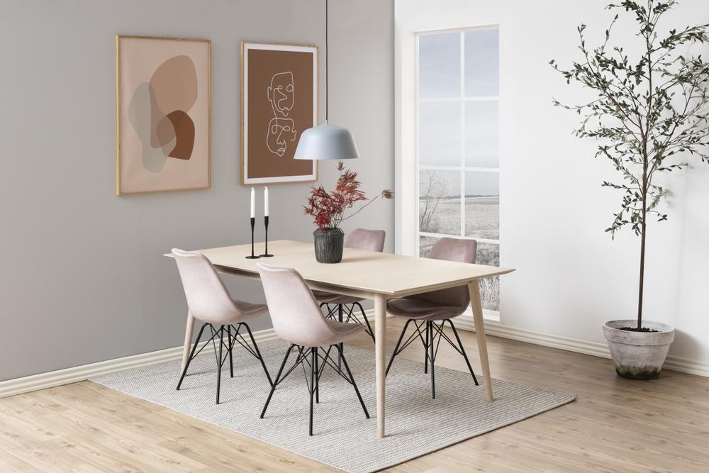Designová židle Nasia světle růžová