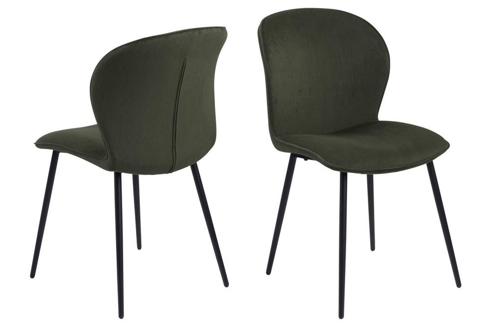 Designová židle Nenitte olivově zelená
