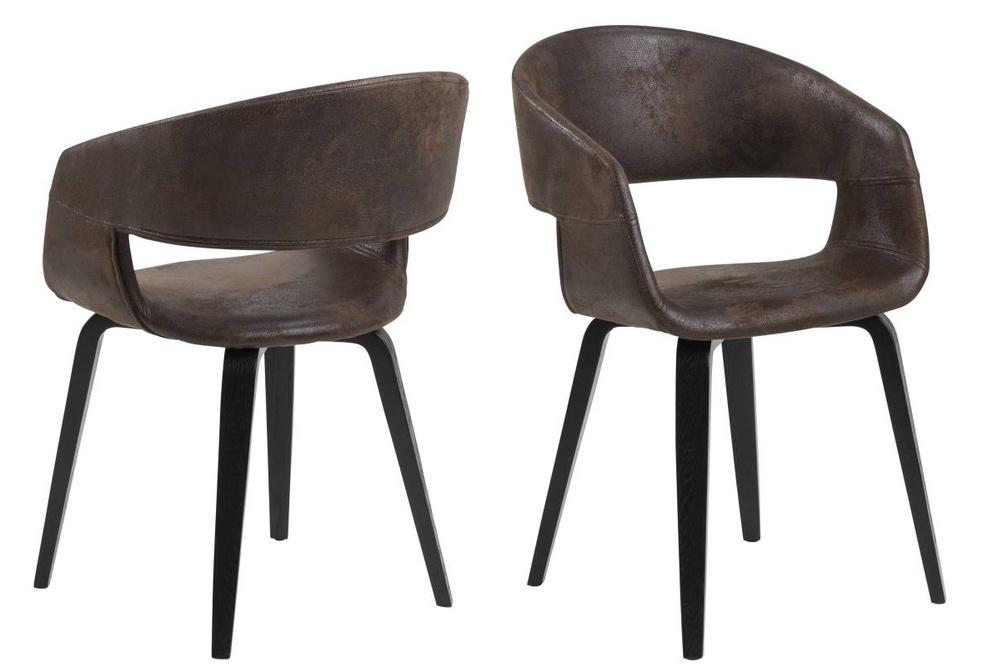 Designová židle Nere hnědá