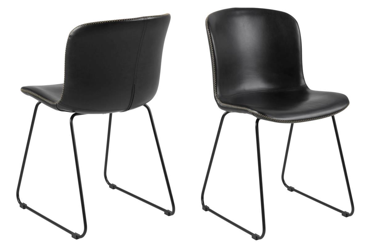 Designová stolička Nerilla černá ekokůže