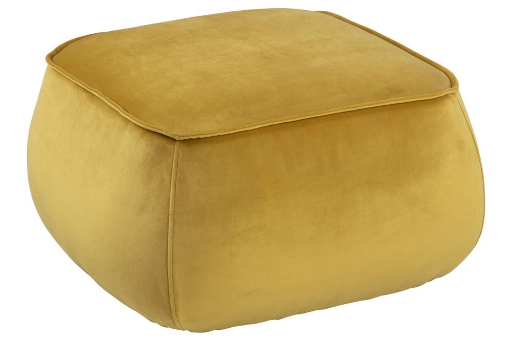 Designová taburetka Nara žlutá kostka
