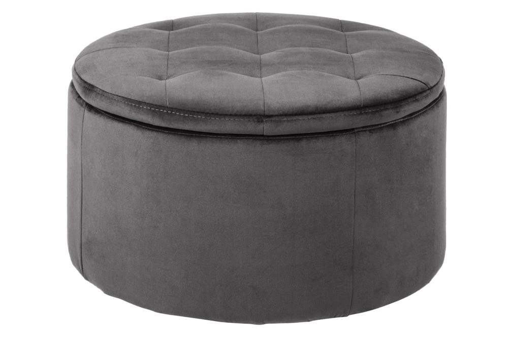 Designová taburetka Nasima tmavě šedá