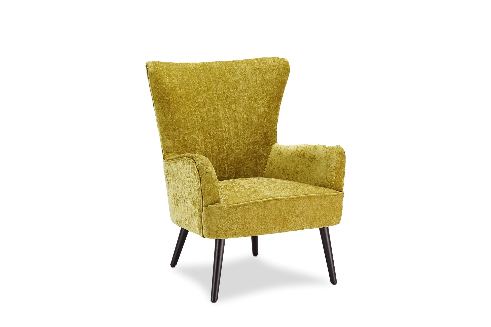 Designové křeslo Abanu, žlutozelené