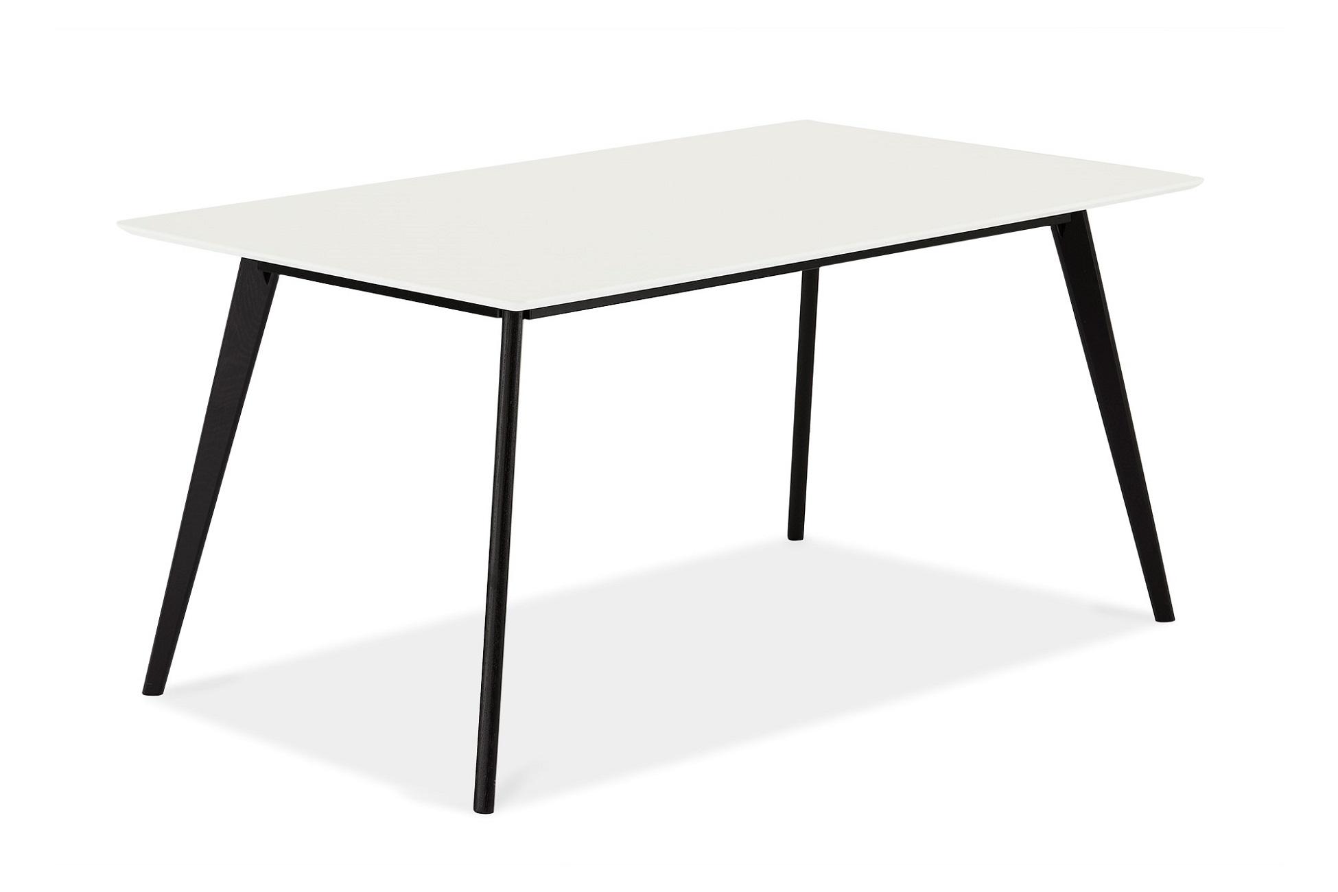 Designový jídelní stůl Aaden, bílá / černá