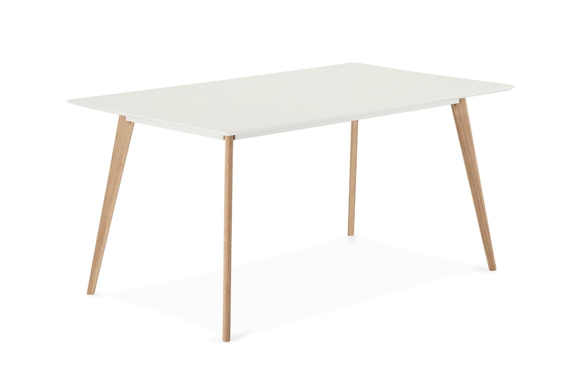 Designový jídelní stůl Aaden, bílá / dub