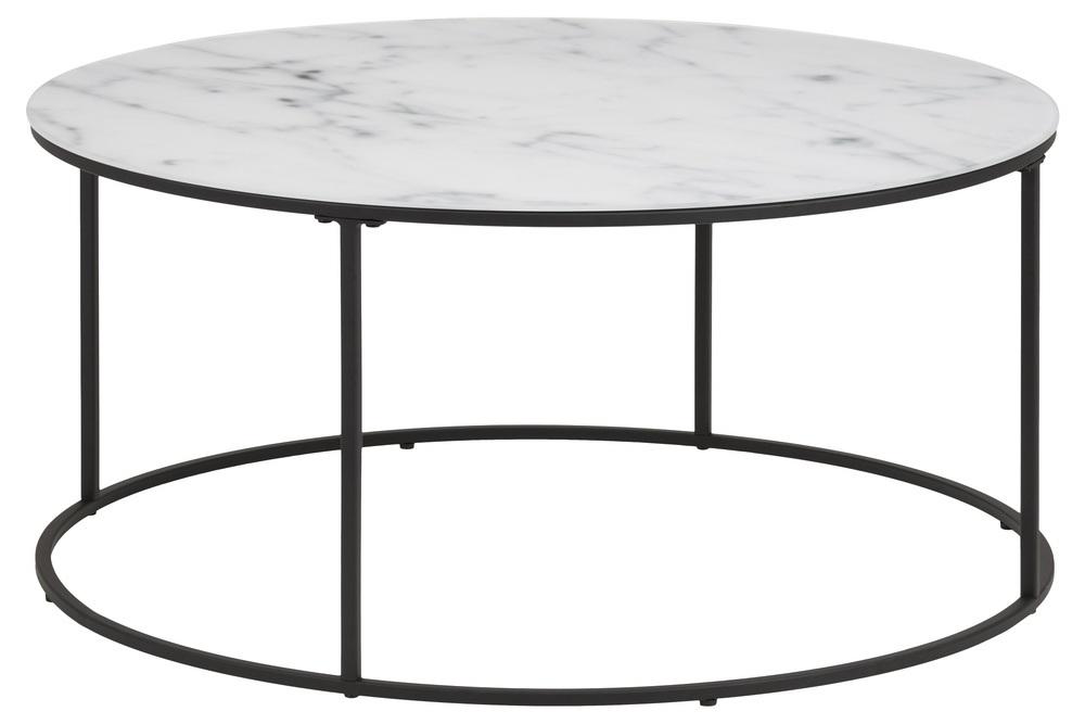 Designový konferenční stolek Ahman bílá / černá