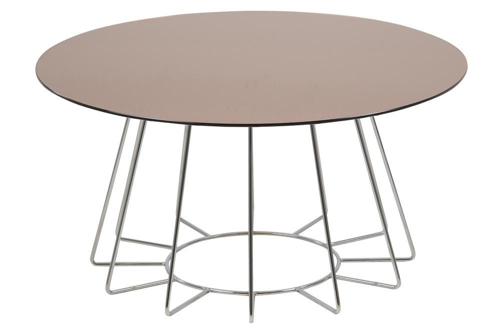 Designový konferenční stolek Ahmed bronzová / chromová