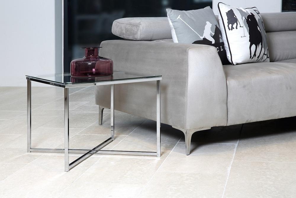 Dizajnový konferenčný stolík Aimilios, chrómová
