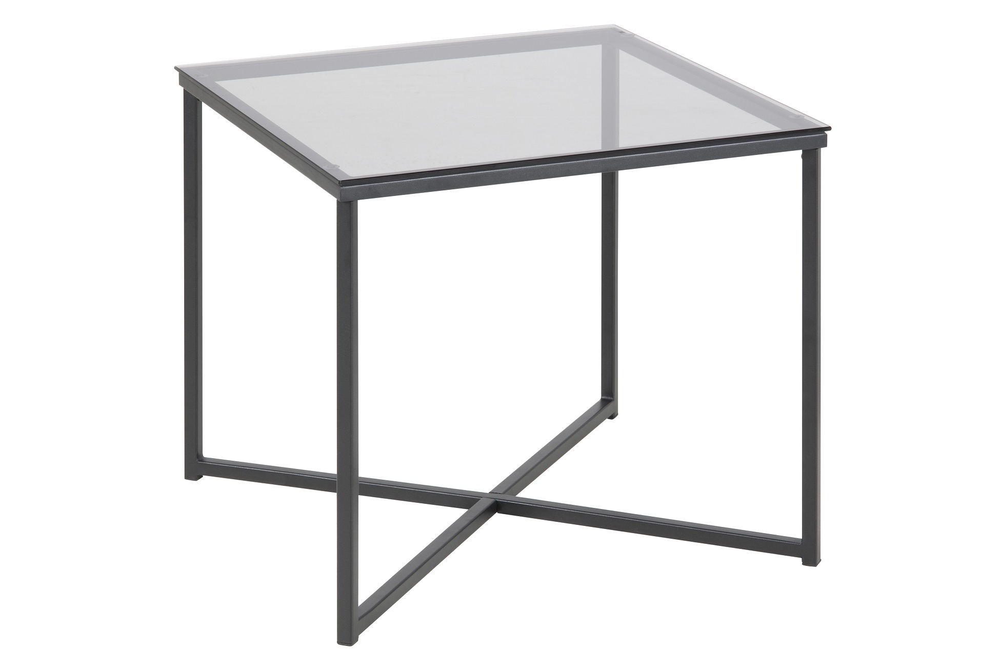 Dizajnový konferenčný stolík Aimilios, dymová / čierna