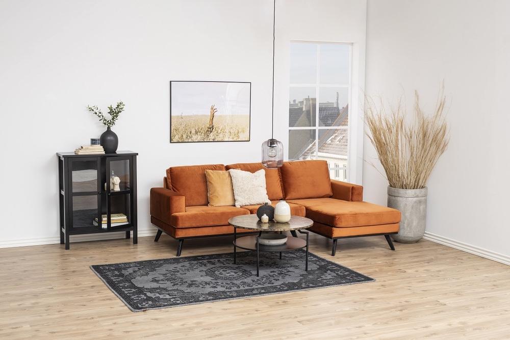 Dizajnový konferenčný stolík Aitor, hnedá / čierna